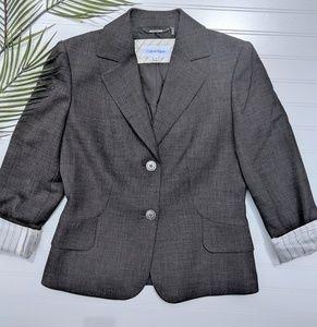 Calvin Klein Gray 2 Button Blazer NWOT